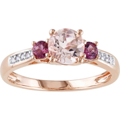 Sofia B. 10K Rose Gold Morganite and Pink Tourmaline Ring with Diamond