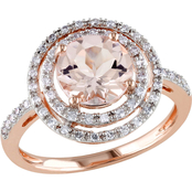 Sofia B. 10K Rose Gold Morganite and 1/4 CTW Diamond Ring