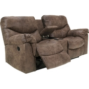Ashley Alzena Reclining Console Loveseat