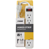 Prime Wire & Cable 6 Outlet Power Strip