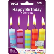 Vanilla Visa Happy Birthday Candle Gift Card