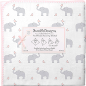 SwaddleDesigns Elephant and Chickies Ultimate Receiving Blanket