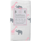 SwaddleDesigns Safari Fun Marquisette Swaddle Blanket Yellow Gray