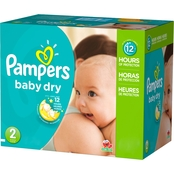 Pampers Baby Dry Diapers Size 2 (12-18 lb.)