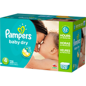 Pampers Baby Dry Diapers Size 4 (22-37 lb.)