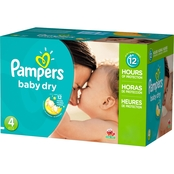 Pampers Baby Dry Diapers Size 4 (22-37 lb.) Choose Count