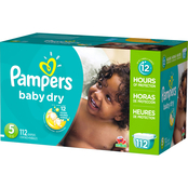 Pampers Baby Dry Diapers Size 5 (27+ lb.)