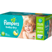 Pampers Baby Dry Diapers Size 6 (35+ lb.) 96 ct.