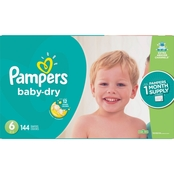 Pampers Baby Dry Diapers Size 6 (35+ lb.)