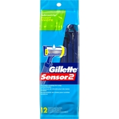 Gillette Sensor2 Pivoting Head Men's Disposable Razors With Lubrastrips 12 Ct.
