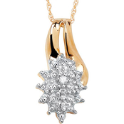 PalmBeach 18K Yellow Gold Over Sterling Silver Diamond Accent Cluster Pendant