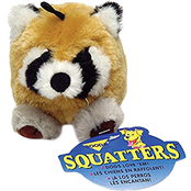 Petmate Zoobilee Squatter Raccoon Dog Toy