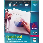 Avery Quick Load Diamond Clear Sheet Protectors, Letter Size