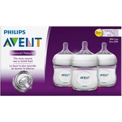Avent Natural 4 oz. Baby Bottle 3 pk.