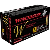 Winchester Train & Defend .38 Special 130 Gr. FMJ Low Recoil, 50 Rounds