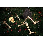 Holiday Times Up From Down Under Skeleton Lawn Decoration 10 Pc. Set