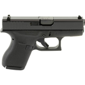 Glock 42 380 ACP 3.25 in. Barrel 6 Rds 2-Mags Pistol Black US Mfg