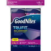 GoodNites Tru-Fit Bedtime Underwear for Girls Starter Pack, Large-Extra Large