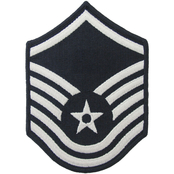 Air Force Master Sergeant (MSgt) Blue Chevron Large Rank