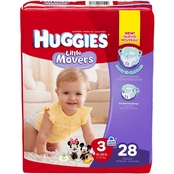 Huggies Little Movers Diapers Size 3 (16-28 lb.) Choose Count