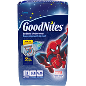 GoodNites Boys NightTime Underwear Size Small-Medium (38-65 lb.)