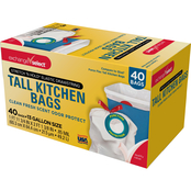 Exchange Select 13 gal. Tall Kitchen Superflex Elastic Drawstring Trash Bags 34 ct.