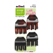 scunci No Slip Tight Grip Chunky Jaw Clips 4 Pk.