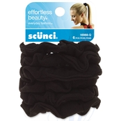 scunci Black Knotted Ponytailers 6 Pk.