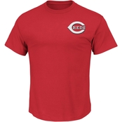Majestic International MLB Cincinnati Reds Wordmark Tee