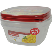 Rubbermaid 9 Cup and 14 Cup Storage Container Value Pack with Easy Find Lids