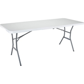 Lifetime Tables 6 ft. Light Commercial Fold In Half Table