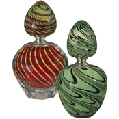Dale Tiffany Swirled Perfume Bottle 2 pc. Set