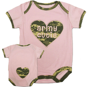 Trooper Clothing Infant Girls Bodysuit in ACU Camo