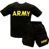 Trooper Clothing Little Boys/Boys Army PT Tee and Shorts 2 pc. Set