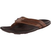 OluKai Men's Mea Ola Premium Grain Tattoo Leather Sandals
