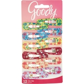 Goody Snap Hair Clips, Girls, Assorted Floral Colors, 12 ct.