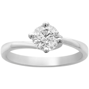 14K White Gold 3/4 ct. Solitaire Engagement Ring