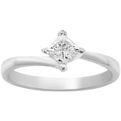 14K White Gold 1/2 ct. Solitaire Engagement Ring