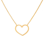 14K Yellow Gold East2West Classic Heart Necklace
