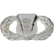 Air Force Badge Basic Command And Control, Mirror Finish, Pin-On, Mid-Size