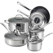 Circulon Genesis Stainless Steel 10 pc. Nonstick Cookware Set