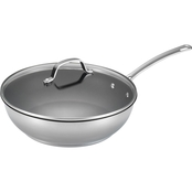 Circulon Genesis Stainless Steel Nonstick 12.5 in. 2 pc. Covered Deep Skillet