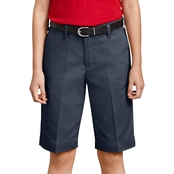 Dickies Girls Plus Classic Fit Bermuda Stretch Twill Shorts