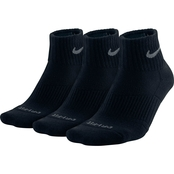 Nike Dri Fit Cushion Quarter Training Socks 3 pk.