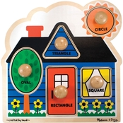 Melissa & Doug Wooden First Shapes Jumbo Knob Puzzle