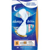 Always Infinity Size 4 Overnight Pads with FlexFoam, 26 Count