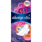 Always Radiant Overnight Scented Pads with Wings 22 Ct.