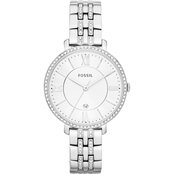 Fossil Women's Jacqueline Three Hand Date Stainless Steel Watch 36MM  ES3545