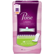 Poise Very Light Absorbency Liners, Regular Length