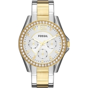 Fossil Women's Riley Multifunction Two Tone Watch ES3204